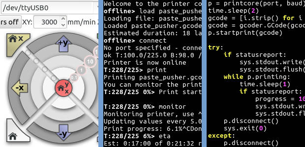 Printrun: Pure Python 3d printing host software